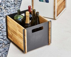 Cane-line - Box Storage (new) lava grey and teak