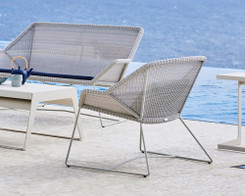 Cane-line Breeze lounge chair white grey (Ex-Display)