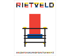 "Alan Dempsey - ""Rietveld"" print"
