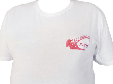 Embroidered Reel Women Fish T-shirt