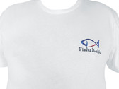 Embroidered Fishaholic T-shirt push