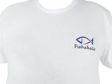 T-shirt  fishaholic embroidered