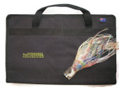ProFishional Fishing Lure Bag black made from Cordura inside view 6 Pockets