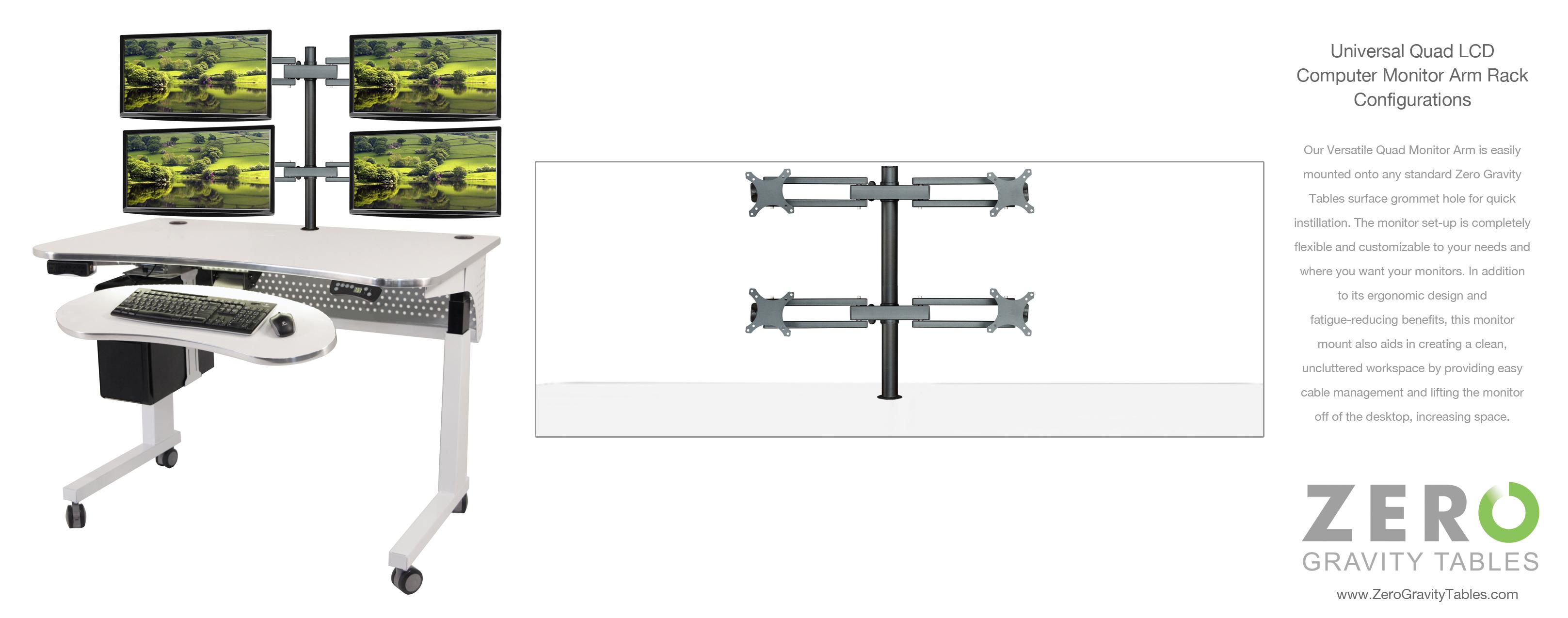 Multiple Computer Monitor Setup For Height Adjustable Standing Desk