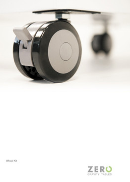 Wheel Kit for Electric Lift Height Adjustable Desks   White
