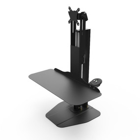 Vertical Desktop Single | Single Monitor Mount | Black | Durable Electric Lifting Power | Adjustable Sit-Stand Height | Power your way to success!