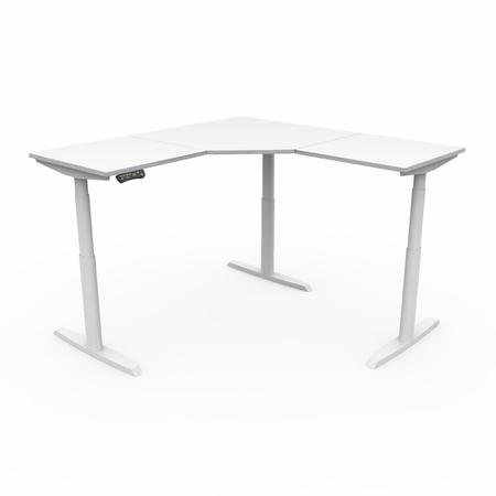 Height Adjustable Corner Desk