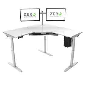 Height Adjustable Corner Desk
