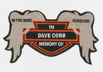 "This is a front view of the Broken Wings Patch.  This patch is great for remembering departed friends and says ""In the wind forever.""  We put their name in the center."