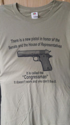 100% cotton Congessman Gun tee shirt