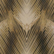 17004 - Roberto Cavalli 6 Kaleidoscope Motif Black Gold Wallpaper