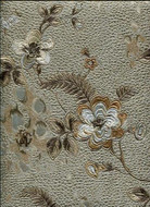 17023 - Roberto Cavalli 6 Floral Gold Brown Wallpaper