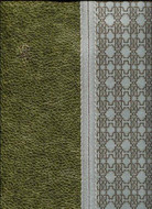 17043 - Roberto Cavalli 6 Striped Leather Upholstery Grey Silver Olive Green Wallpaper
