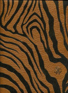 17068 - Roberto Cavalli 6 Zebra Motif Black Golden Brown Wallpaper