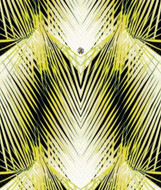 17201 - Roberto Cavalli 6 Foliage Yellow White Black Wallpaper Panel