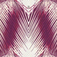 17203 - Roberto Cavalli 6 Foliage Red Burgundy White Wallpaper Panel
