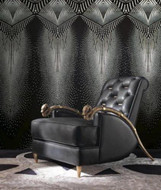 17206 - Roberto Cavalli 6 Decorative Black White Gold Wallpaper Panel