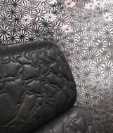 17208 - Roberto Cavalli 6 Floral Flowers Black White Wallpaper Panel