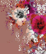 17209 - Roberto Cavalli 6 Floral Flowers Multicoloured Wallpaper Panel