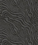 17214 - Roberto Cavalli 6 Zebra Design Black Grey Wallpaper Panel