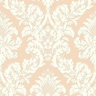 UK10456 - Peartree Glitter Damask Rose Gold Wallpaper