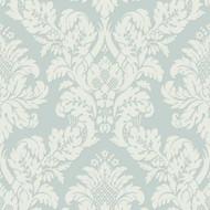UK10482 - Peartree Glitter Damask Teal Wallpaper