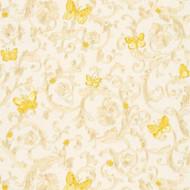 343251 - Versace Butterflies Bees Ladybirds White Gold AS Creation Wallpaper