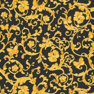 343252 - Versace Butterflies Bees Ladybirds Black Gold AS Creation Wallpaper