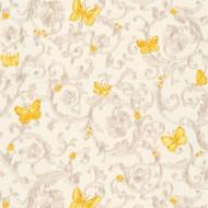343253 - Versace Butterflies Bees Ladybirds White Orange AS Creation Wallpaper