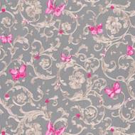 343255 - Versace Butterflies Bees Ladybirds Grey Pink AS Creation Wallpaper
