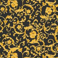 343262 - Versace Antique Vintage Florals Black Gold AS Creation Wallpaper