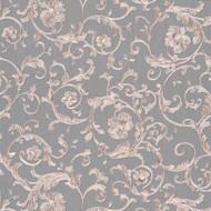 343265 - Versace Antique Vintage Florals Silver Grey AS Creation Wallpaper