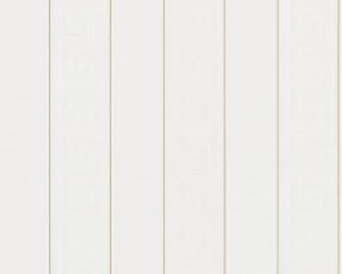 935241 Versace Greek Key Striped White Gold As Creation Wallpaper