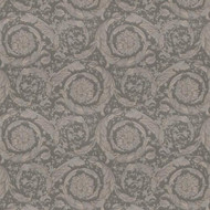 935836 - Versace Swirling Florals Flowers Grey AS Creation Wallpaper