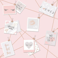 12770 - Dream Lashes Pink Rosegold Card Montage Holden Decor Wallpaper