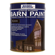 5lt Bedec Acrylic Exterior Barn Paint Satin Black For All External Wood