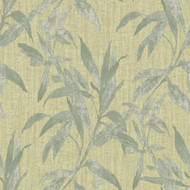 TP21232 - Passenger Leaf Pattern Green Galerie Wallpaper