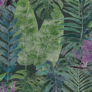 TPD21296 - Passenger Jungle Foliage Purple Green Galerie Mural