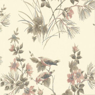 1601-100-03  - Rosemore Trees Birds Cream Neutral 1838 Wallpaper
