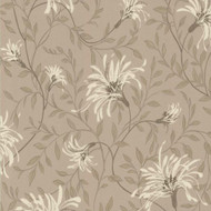 1601-101-03  - Rosemore Daisy Floral Trails Taupe Beige Natural 1838 Wallpaper