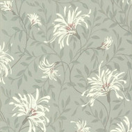 1601-101-04  - Rosemore Daisy Floral Trails Duck Egg Cream 1838 Wallpaper