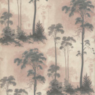 1601-102-01  - Rosemore Trees Woodland Pink Grey 1838 Wallpaper
