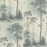 1601-102-02  - Rosemore Trees Woodland Aqua Teal 1838 Wallpaper