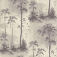 1601-102-03  - Rosemore Trees Woodland Grey Cream 1838 Wallpaper