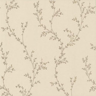 1601-103-04  - Rosemore Foliage Trail Taupe Gold 1838 Wallpaper