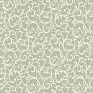 1602-103-02  - Avington Entwined Scrolls Green Gold 1838 Wallpaper