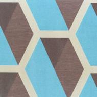 331216 - Charm Geometric Hexagonal Turquoise Brown Beige Eijffinger Wallpaper