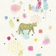 383608 - Rice  Jungle Animals Foliage Cream Multicoloured Eijffinger Mural