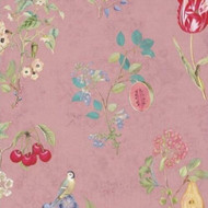 375023 - Pip Studio 4 Floral Fruits Pink Multicoloured Eijffinger Wallpaper