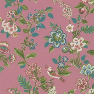 375064 - Pip Studio 4 Botanical Print Pink Multicoloured Eijffinger Wallpaper